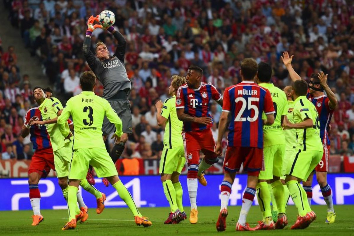 1. Ter Stegen (Barcelona) ante Bayern Munich. Foto:Getty Images
