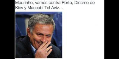 Pero sí a José Mourinho. Foto:Vía twitter.com