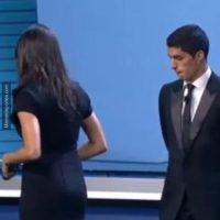 """Luego del sorteo, tuvo lugar el premio al """"Mejor Jugador de la UEFA"""". Foto:memedeportes.com"""