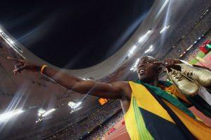 Medalla de Oro en Pekín 2008 en 100 metros planos. Foto:Getty Images