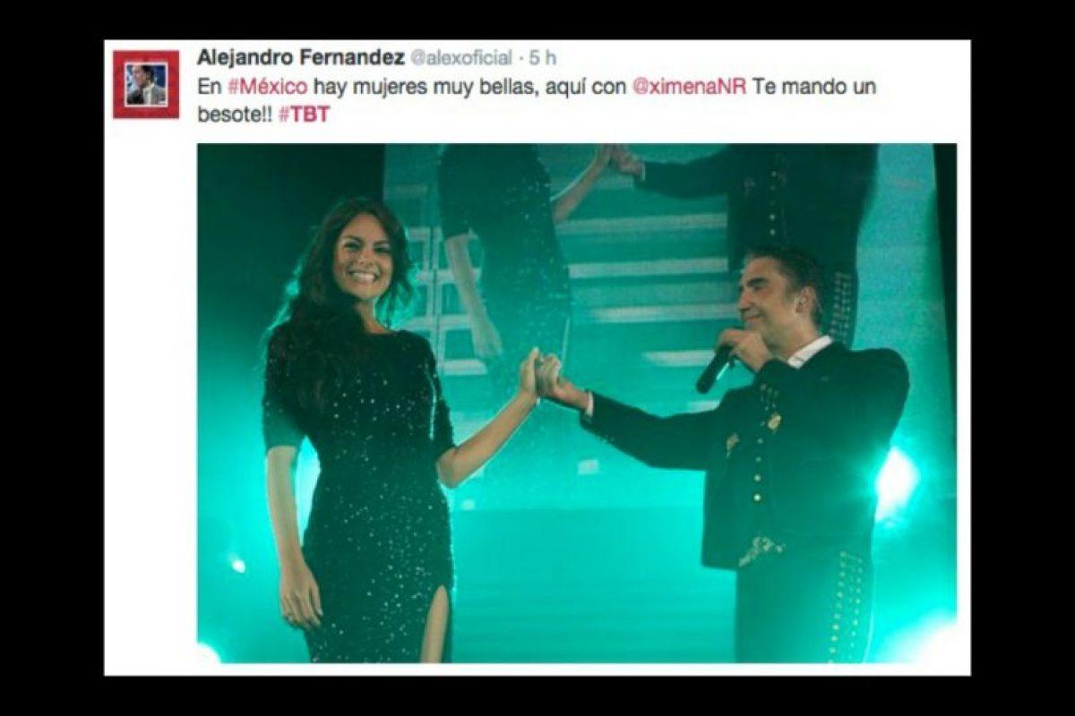 Alejandro Fernández y Jimena Navarrete Foto:Twitter/Alexoficial