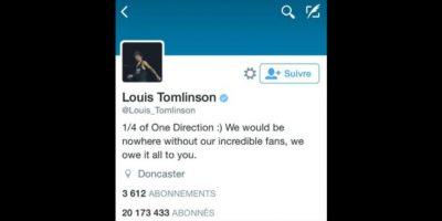 Tales números representan el número de integrantes de One Direction Foto:vía twitter.com/louistomlinson