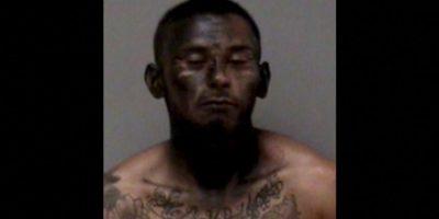 """José Espinoza robó un auto. Pero para escapar de la Policía se """"camufló"""" pintándose la cara de negro. Por supuesto, no funcionó. Foto:Policía de Madera, California"""