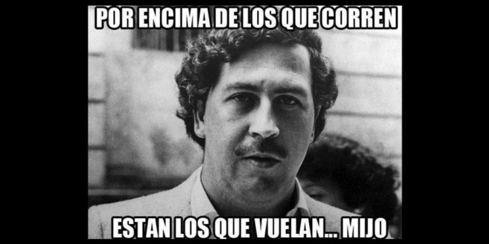 Así lucía el famoso capo de la droga colombiano, Pablo Escobar. Foto:vía twitter.com