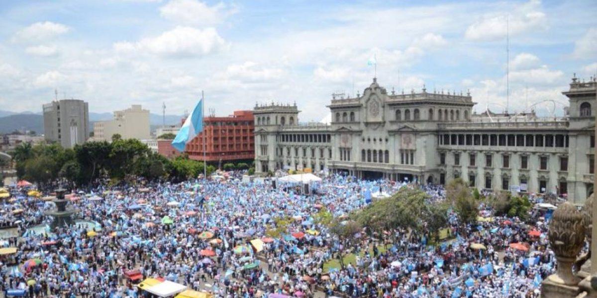 VIDEO. Miles se unieron al #ParoNacional para exigir la renuncia de Otto Pérez