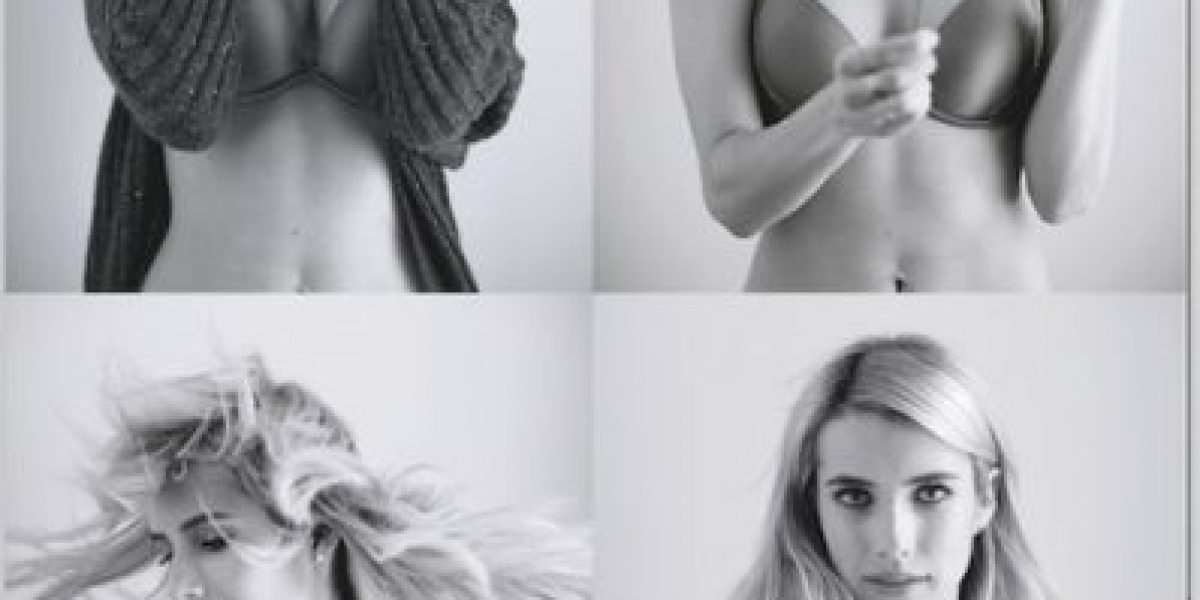 Emma Roberts posa en ropa interior y sin Photoshop