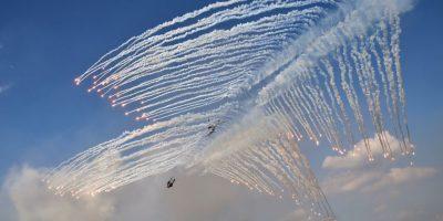 Helicópteros de Corea del Sur. Foto:AFP