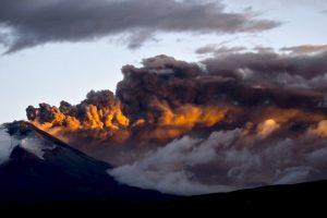 Volcán Cotopaxi en Ecuador. Foto:AFP