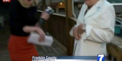 Vicky Garner, era a la mujer que estaban entrevistando. Foto:AFP