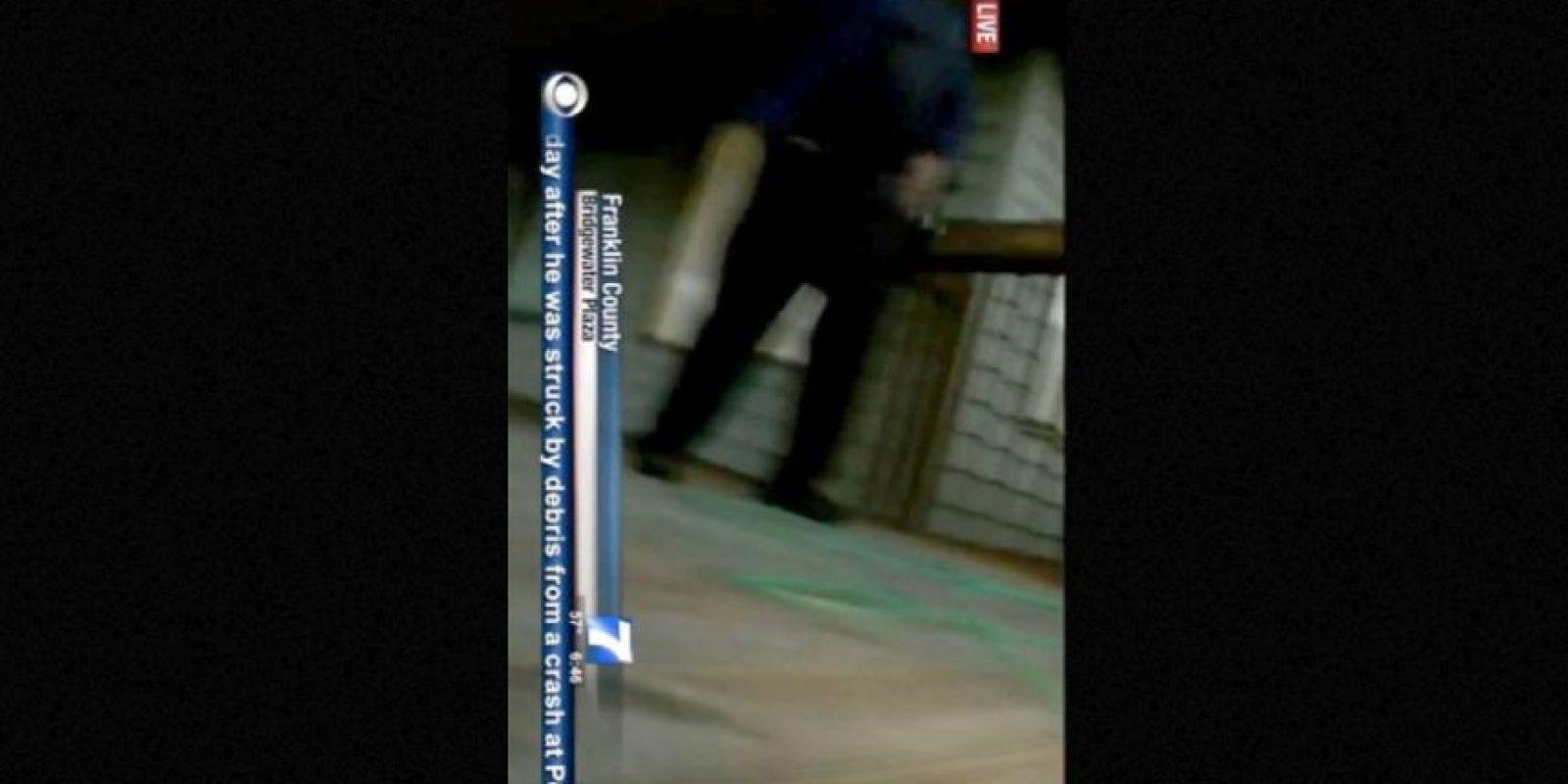 Esta fue su captura en pantalla en el momento del ataque. Foto:AFP