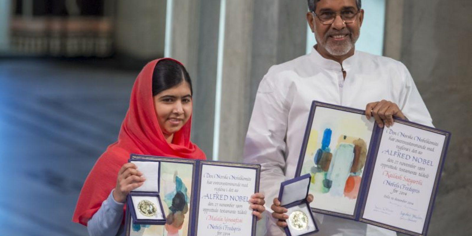 El 10 de diciembre de 2014, Malala Yousafzai, con 17 años recibió el galardón. Foto:Getty Images