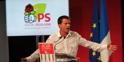 El cual dio frente a miembros del Partidos Socialista francés al cual pertenece Foto:AFP