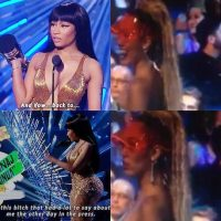 """La cantante de """"Anaconda"""" despotricó contra la anfitriona Miley Cyrus Foto:Instagram.com"""