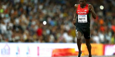 El keniano ganó los 400 metros con vallas con una marca de 47 segundos y 79 centésimas de segundo Foto:Getty Images