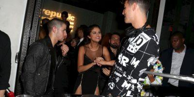 Selena Gómez, Nick Jonas y Joe Jonas Foto:Getty Images