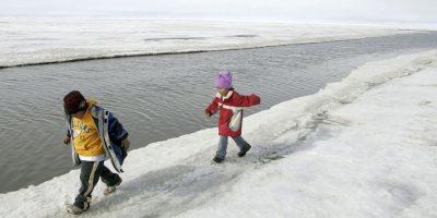 Desaparece una isla en Alaska por el cambio climático