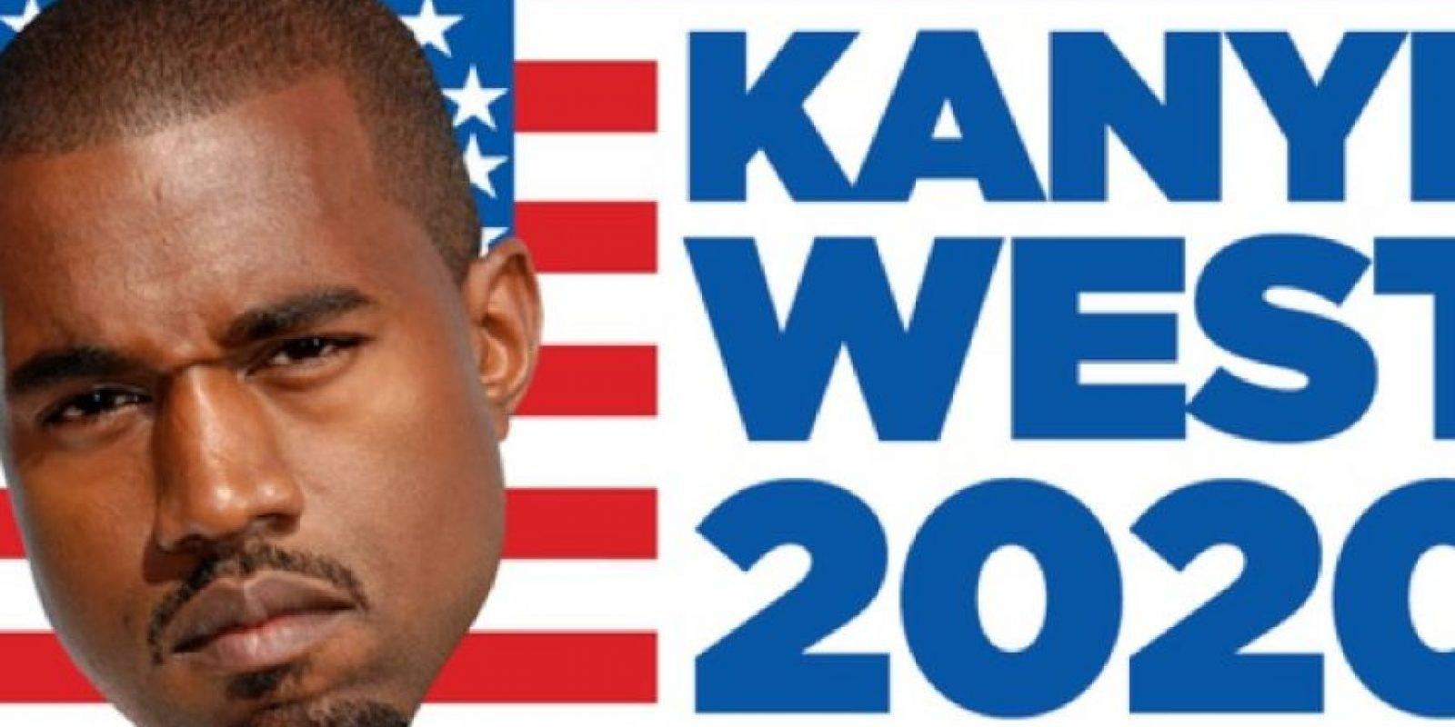 ¿Kanye West para presidente? Foto:Vía Twitter