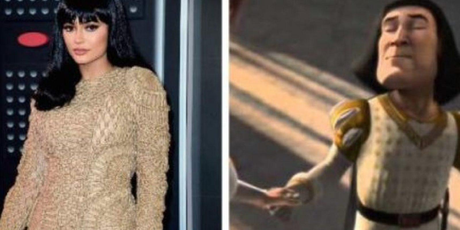 Kylie Jenner y Lord Farquad de Shrek Foto:Vía Twitter