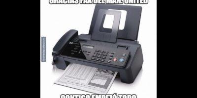 E incluso, al fax del Manchester United. Foto:memedeportes.com