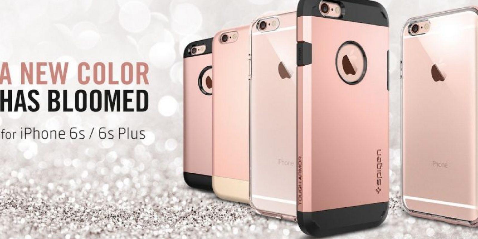 Spiegen muestra imágenes de lo que sería el iPhone 6s rosa. Foto:vía spigen.com