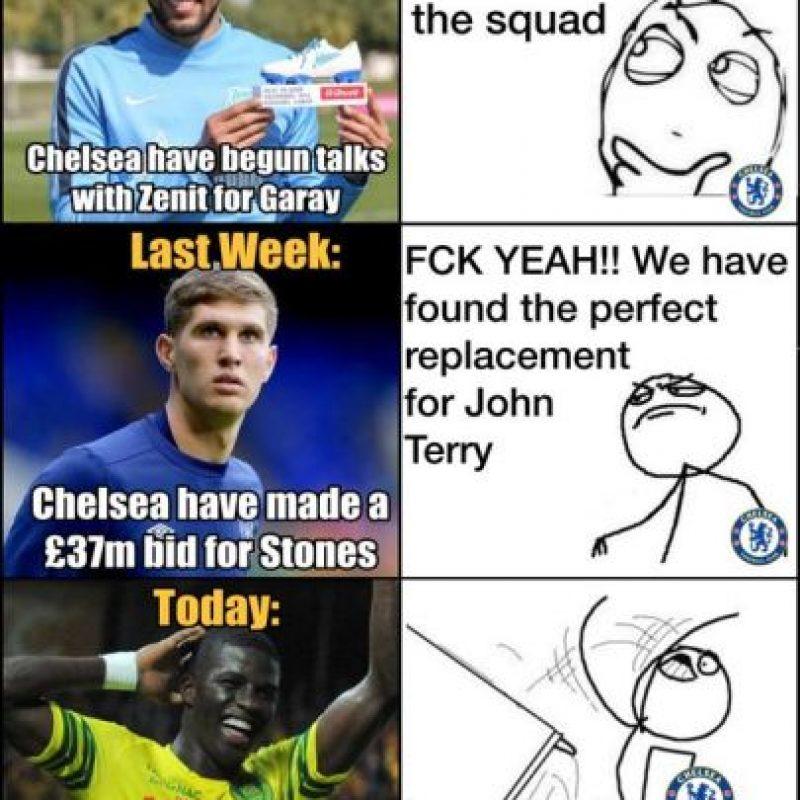 Por cierto, así fue la decepcionante época de fichajes para los fans del Chelsea. Foto:Vía twitter.com/troll__football