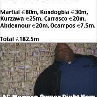 Y los dueños del Mónaco tuvieron grandes ganancias. Foto:Vía twitter.com/troll__football