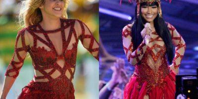 FOTOS. ¿Quién se mira mejor? Nicki Minaj copia el look que Shakira usó en el Mundial