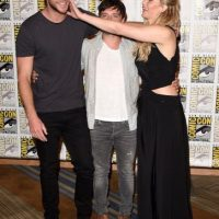 """Sus compañeros en la trama son: Jennifer Lawrence (""""Katniss Everdeen"""") y Josh Hutcherson (""""Peeta Mellark"""") Foto:Getty Images"""