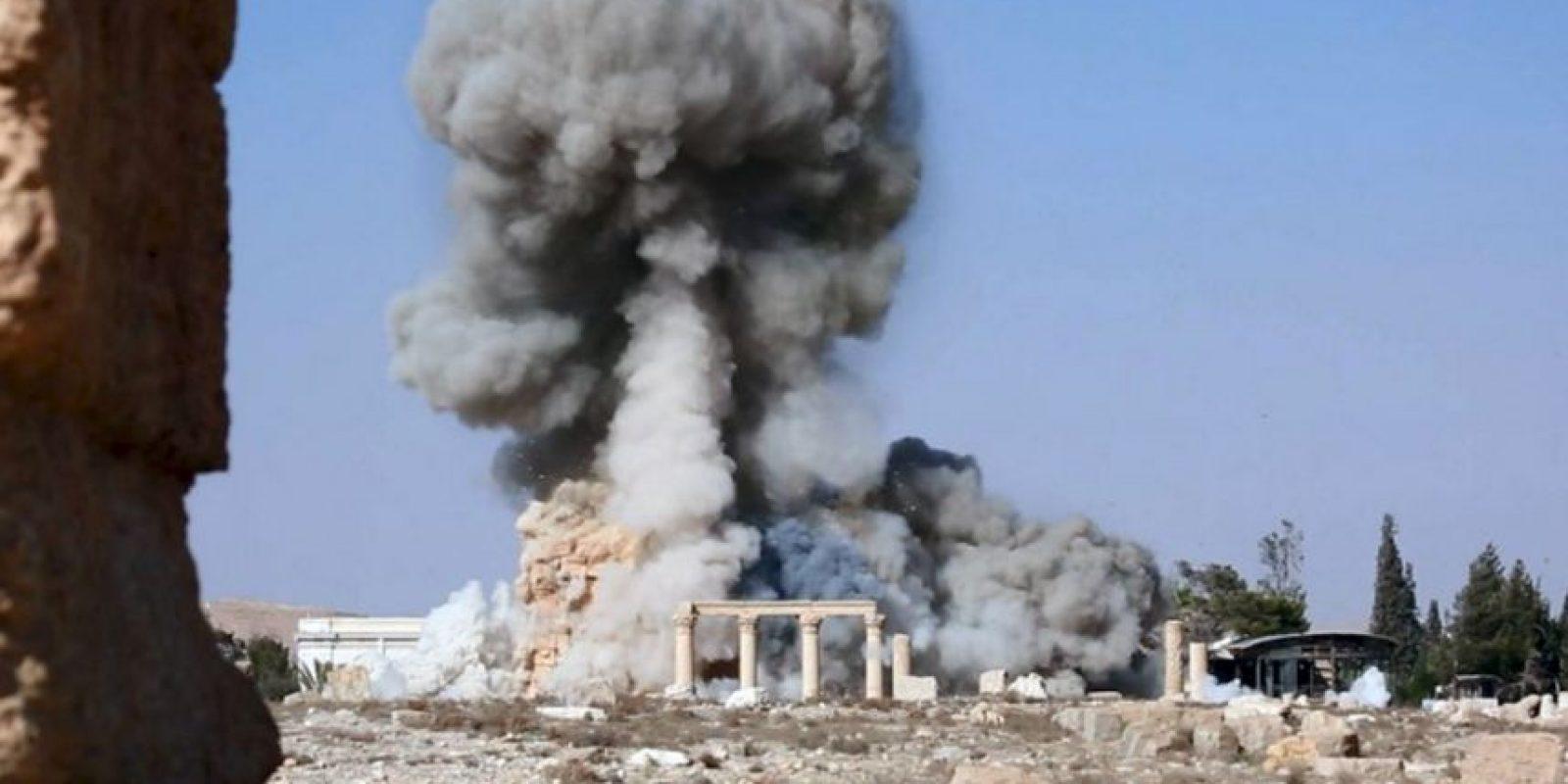 ISIS publicó fotografías de la destrucción del templo de Bel. Foto:AP