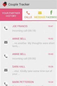 El software permite a las parejas compartir textos, rastrear llamadas y actividad en las redes sociales Foto:Couple Tracker
