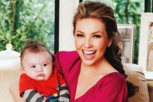 Dio a luz a su hijo Matthew a los 40 años Foto:Hola