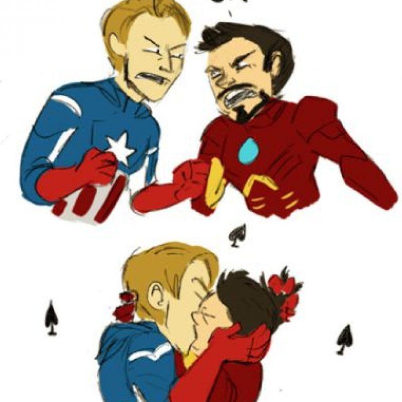 Con el Capitán América. Foto:vía DeviantArt