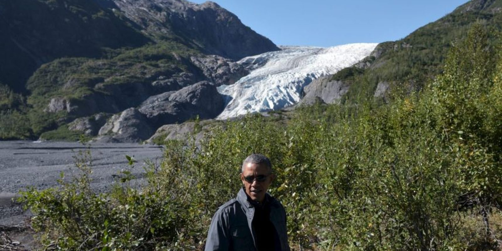 "Barack Obama se reunió con Bear para grabar un episodio del reality ""Running Wild with Bear Grylls"". Foto: AP"