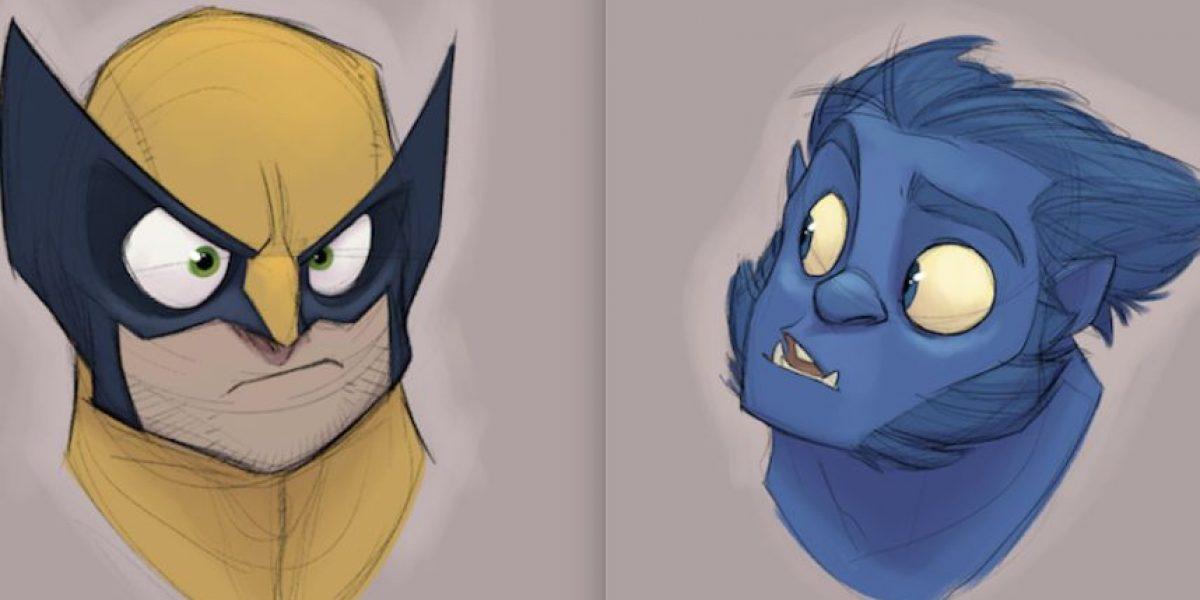 FOTOS. Cómo serían los X-Men al estilo de caricatura de Disney