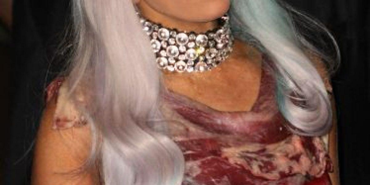 5 años después: Así luce el vestido de carne de Lady Gaga