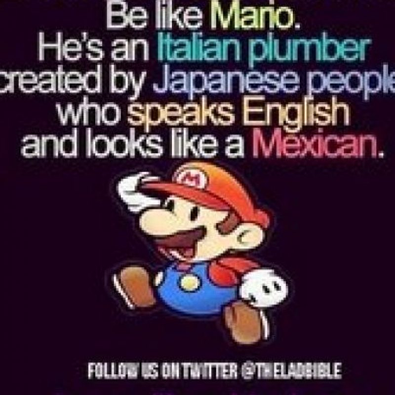 """Por esta imagen acusaron de antisemita a """"Super Mario"""" Foto:Twitter"""