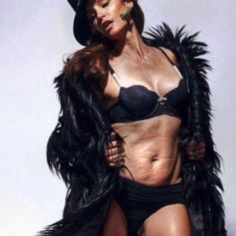 En febrero pasado fue filtrada esta foto que fue parte de una sesión para una revista en 2013. Sin embargo la modelo dijo que la imagen fue retocada Foto:Twiiter