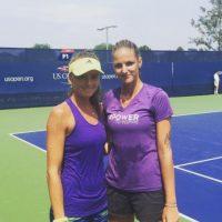 Karolina Pliskova compartió una imagen de sus trabajos de entrenamiento antes de empezar el US Open. Foto:Vía instagram.com/karolinapliskova