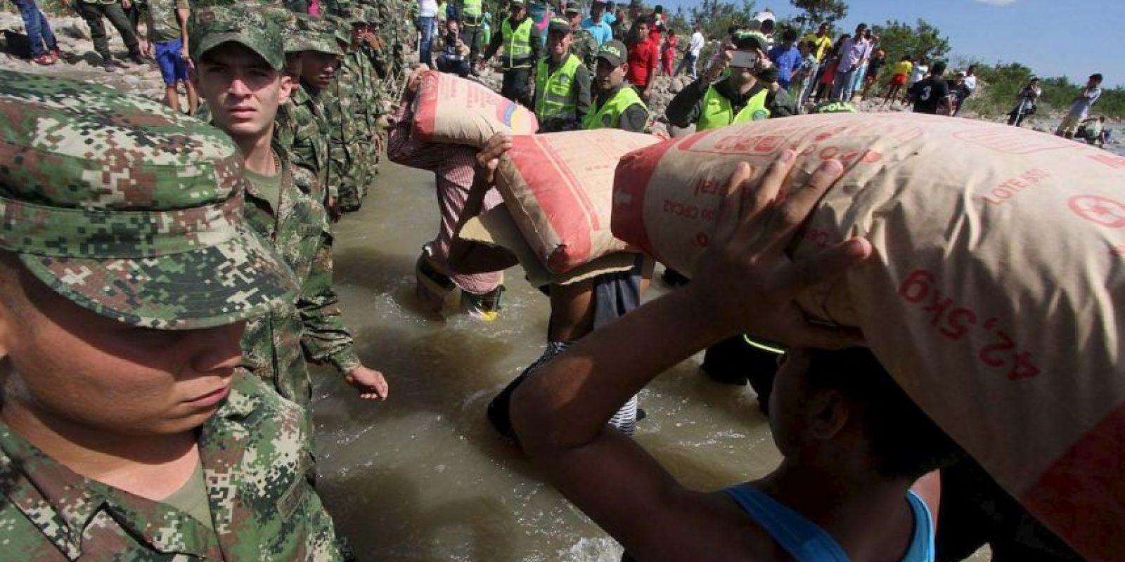 El presidente de Venezuela Nicolás Maduro ordenó el cierre de la frontera con Colombia. Foto:AFP