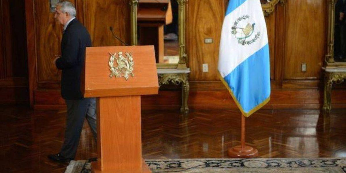 ¡Es oficial! Otto Pérez Molina presenta su renuncia