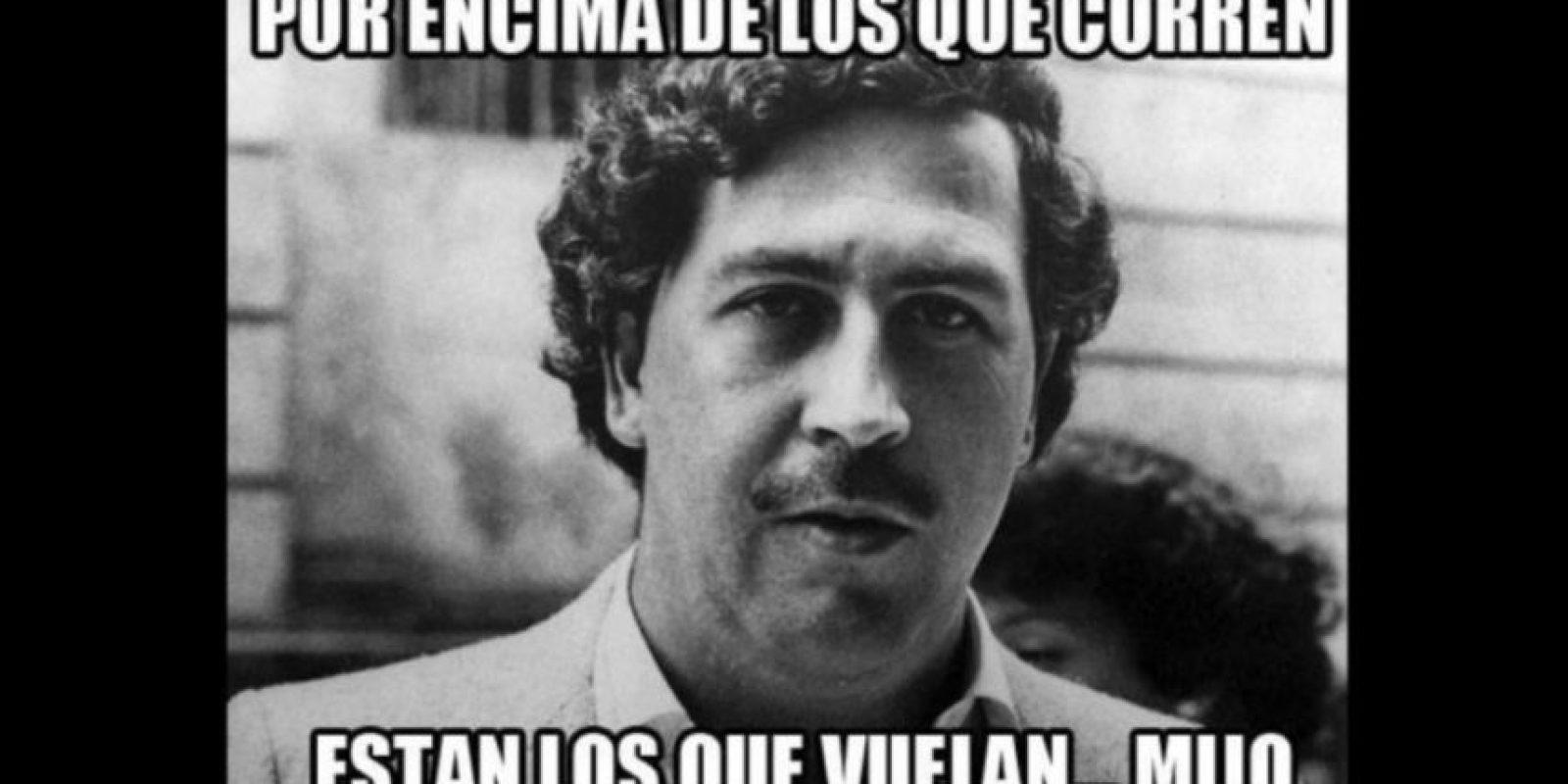 Así lucía el famoso capo de la droga colombiano, Pablo Escobar. Foto:Vía Twitter