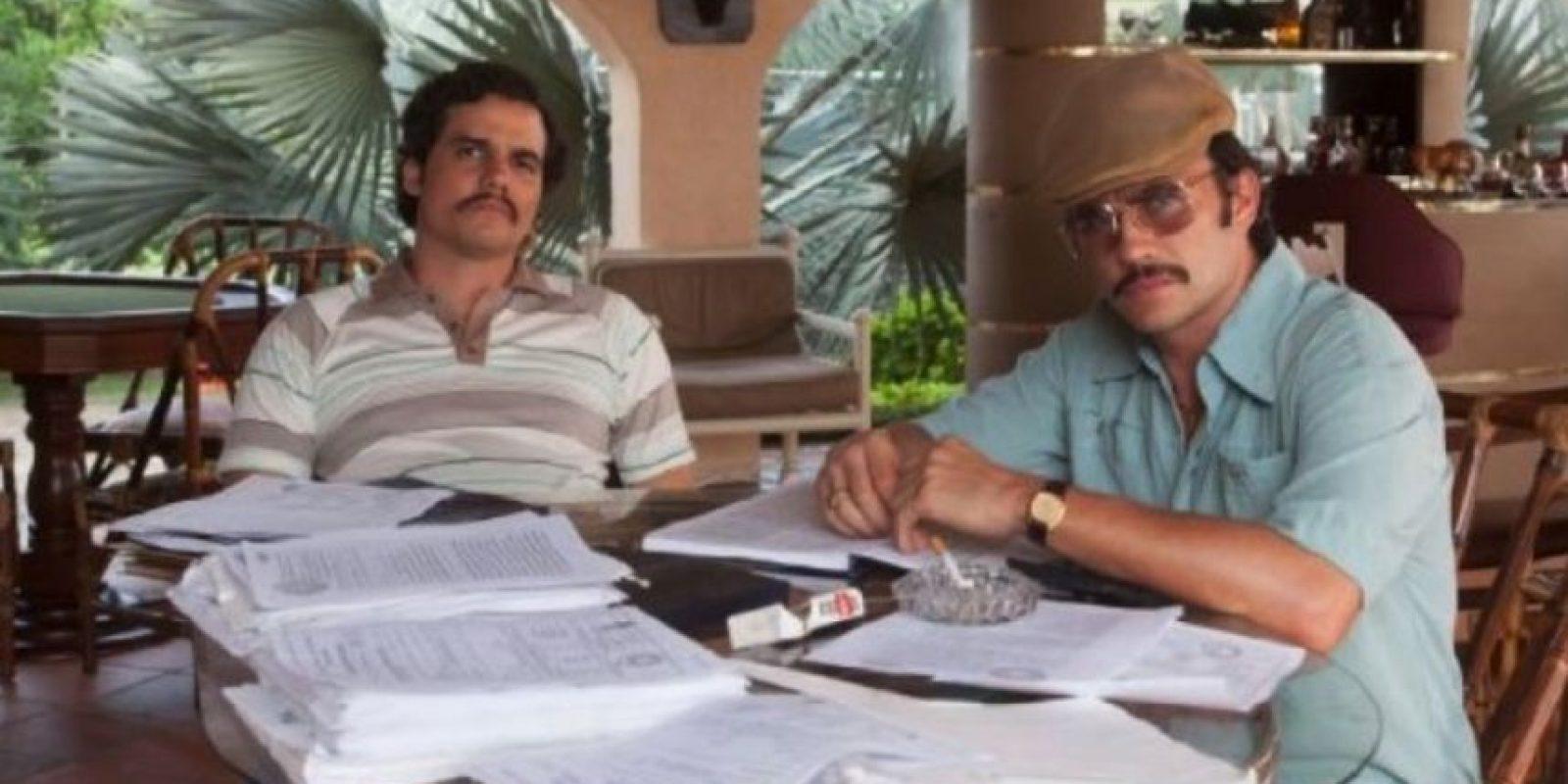 Pablo Escobar y Gustavo Gaviria en la serie. Foto:Netflix