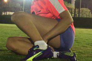 En aquel entonces, Oliva tenía 22 años y jugaba fútbol en River Plate, equipo del cual es hincha. Foto:Vía twitter.com/rogeraldineoliv