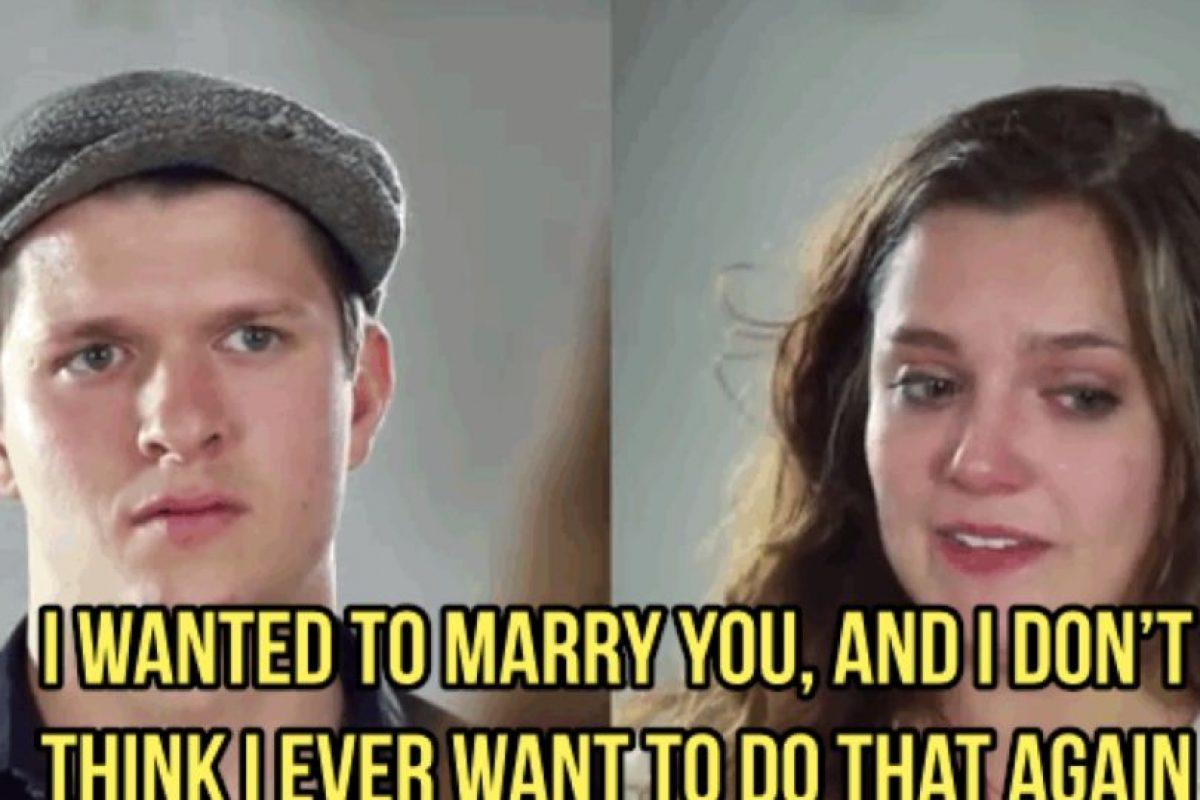 Pero ella le recordó que gracias a él no querría casarse nunca.