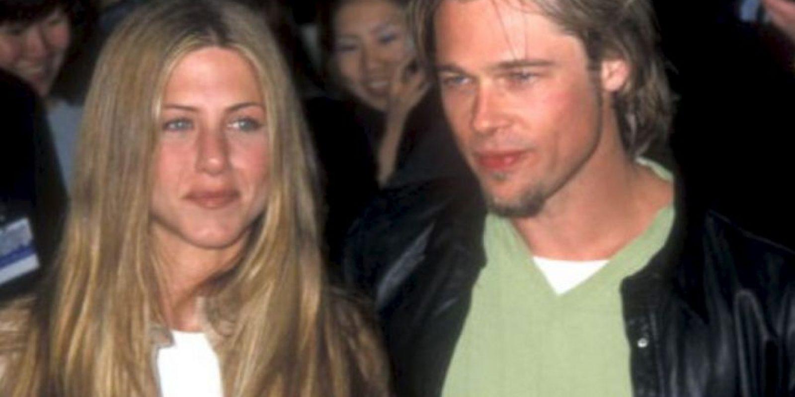Jennifer Aniston y Brad Pitt hicieron felices a todo el mundo a comienzos de la década de 2000. Y luego apareció Angelina. El fin. Foto:vía Getty Images