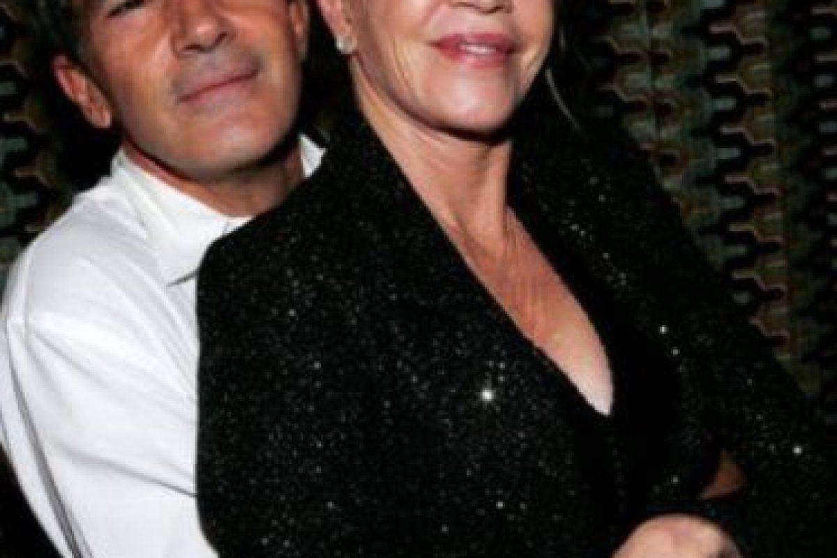 Antonio Banderas y Melanie Griffith parecían bien avenidos. Parecían. Foto:vía Getty Images