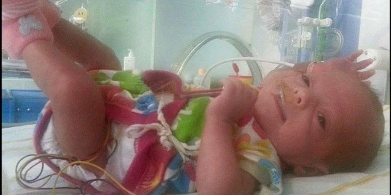 Lamentablemente solo su pequeña Hayden sobrevivió. Foto:Vía Facebook