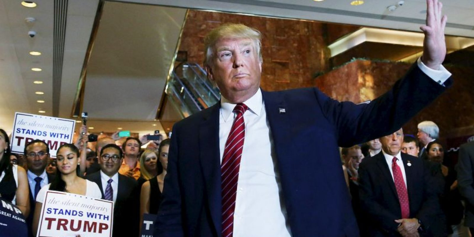 """""""Soy un poco contundente, pero ¿sabes qué? Tal vez, eso es lo que necesitamos"""", ha indicado el multimillonario. Foto:Getty Images"""