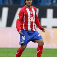 En 2006 llegó al Atlético de Madrid, procedente del Independiente de Argentina. Foto:Getty Images