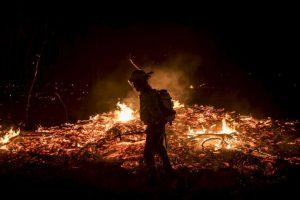 Fuego forestal en España. Foto:AFP
